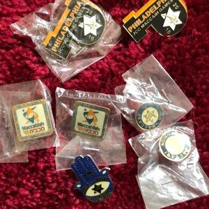 Jewelry - NWT Lot of 7 vintage 2010 Maccabi Games pins.
